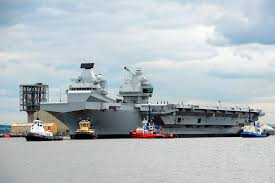 u k u0027s new and only aircraft carrier readies for maiden voyage