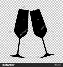 champagne glass cartoon clipart black background