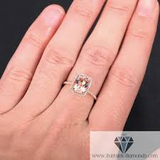 engagement rings cushion cut cushion cut morganite halo pave diamond engagement ring