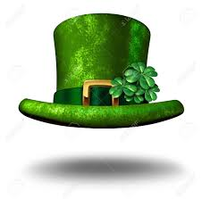 green shamrock lucky top hat as a st patricks day symbol and