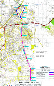 Metrorail Map Rapid Metro Rail Route Map