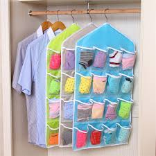 bag hanging wardrobe closet door after receiving 16 transparent