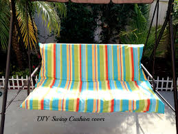 Patio Swing Cushions Diy Easy Outdoor Swing Cushion Cover Withheartandverve