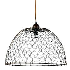 wire pendant light fixtures chicken wire pendant light basket fixture adorable l dome in