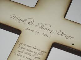 personalized crosses personalized christian wedding cross gift for and