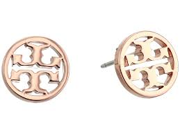 Tory Burch Wallpaper by Tory Burch Logo Circle Stud Earrings At Luxury Zappos Com