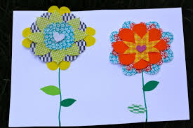 Homemade Flowers Homemade Flower Week Origami Paper Flower Collages Cooking With