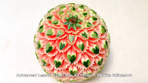 Vegetable Decoration Videos How To Make Heart Shapes On Melon Watermelon Quick Easy Simple
