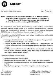to balbir s route nomination of prof pawan singh mehra of cse dr ravindra kumar