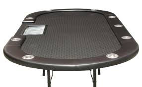 Texas Holdem Table by Folding Black Leather Texas Holdem Poker Table With 10 Seat And Trays