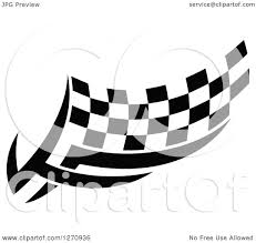 Checkered Racing Flags Clipart Of A Black And White Tribal Checkered Racing Flag 8