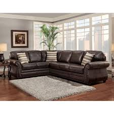 Leather Pillows For Sofa by Sofa Trendz Bindy Saddle Faux Leather Sectional Bindy Sectional