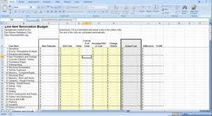 Restaurant Renovation Cost Estimate by Construction Budget Spreadsheet