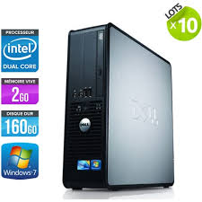 ordinateur de bureau windows 7 pas cher lot de 10 dell optiplex 380 sff ordinateurs de bureau gris
