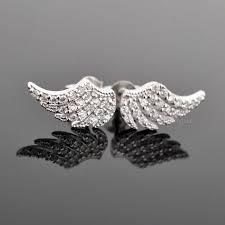 angel wing earrings angel wing feather earrings for women sterling silver callvogue