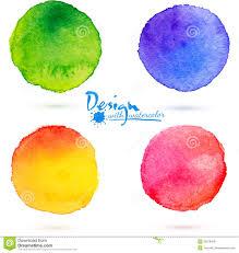 vector watercolor circle splashes set stock vector image 35879429