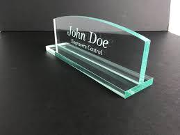 popular glass desk name plates design ideas glass desk name