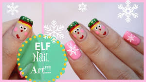 christmas nail art elf design missjenfabulous youtube
