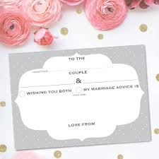 Marriage Advice Cards For Wedding Pack Of 25 Wedding Advice Cards Frame Design By Dimitria Jordan