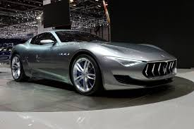 maserati chrome blue alfieri concept car