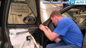 how to install replace side rear view mirror mercury grand marquis