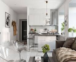 shiny scandinavian decoration in several small one bedroom