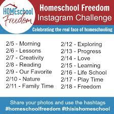 Challenge Instagram Homeschool Freedom 2018 Instagram Challenge Homeschool Freedom