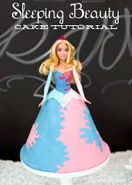 sleeping beauty princess cake tutorial ashlee marie