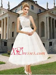 sweet princess bateau ankle length lace wedding dresses 150 42