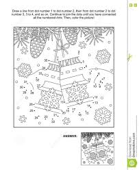dot coloring pages dot to dot and coloring page with santa s mittens stock vector