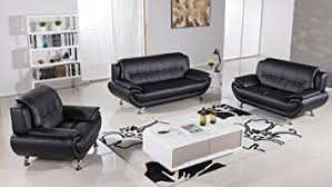 Amazoncom American Eagle Furniture Highland Complete  Piece - Black modern living room sets