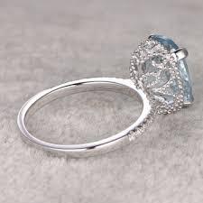 9x11mm oval big aquamarine ring filigree from popring on etsy