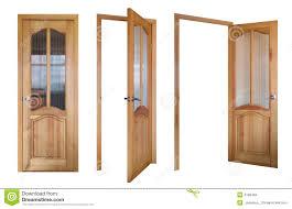 glass wood doors three wooden and glass doors stock photos image 2198463