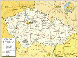 Czechoslovakia Map Political Map Of Czech Republic Nations Online Project