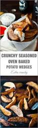 crunchy seasoned oven baked potato wedges recipetin eats