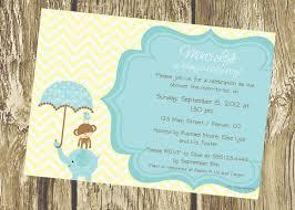 jungle baby shower elephant monkey baby shower invitations