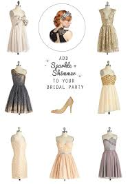 cocktail party attire super sparkle week 9 shimmery bridal party attire suggestions