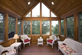 screen porch panels beach style with ceiling fans contemporary