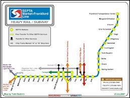 Septa Train Map Septa U0027s Market Frankford Subway Line Signal And Railfan Guide