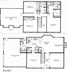 4 bedroom house plans 2 story simple floor plan but functional might want it a bit bigger