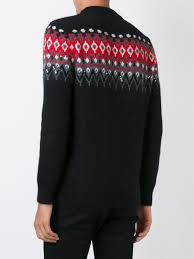 yves saint laurent yves saint l saint laurent embellished saint laurent embellished jacquard jumper men clothing saint yves laurent uk official online shop