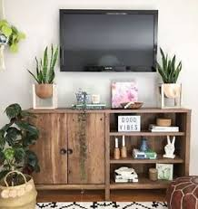 smart tv stand 4k fire rustic buffet table console small bookshelf