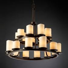Chandelier Metal Buy Candlearia Dakota 3 Light Chandelier Metal Finish Matte Black