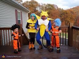 Saiyan Halloween Costume Dragon Ball Family Theme Costume Photo 3 3