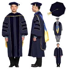 academic hoods of california phd gown cap regalia set