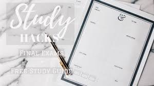 study hacks for exams diy study guide organization
