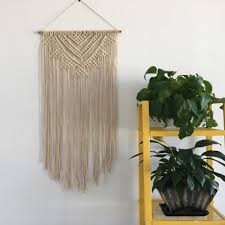 tapestry home decor cotton rope handmade bead macrame tapestry wedding wall hanging home