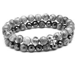 skull bracelet bead images 2 pcs set lucky beads skull bracelets bullestone jpg