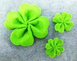 felt four leaf clover a plant plushie version by b
