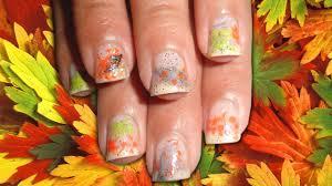 easy fall foliage nail art tutorial for short nails youtube